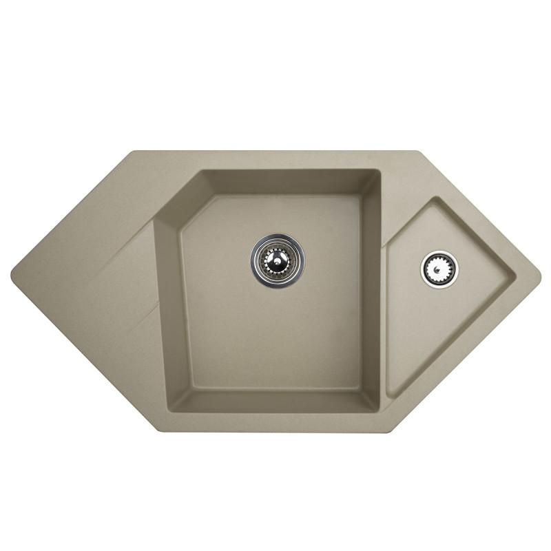 Metalac granitna usadna sudopera xDiamond šampanj 960x510 Ø90