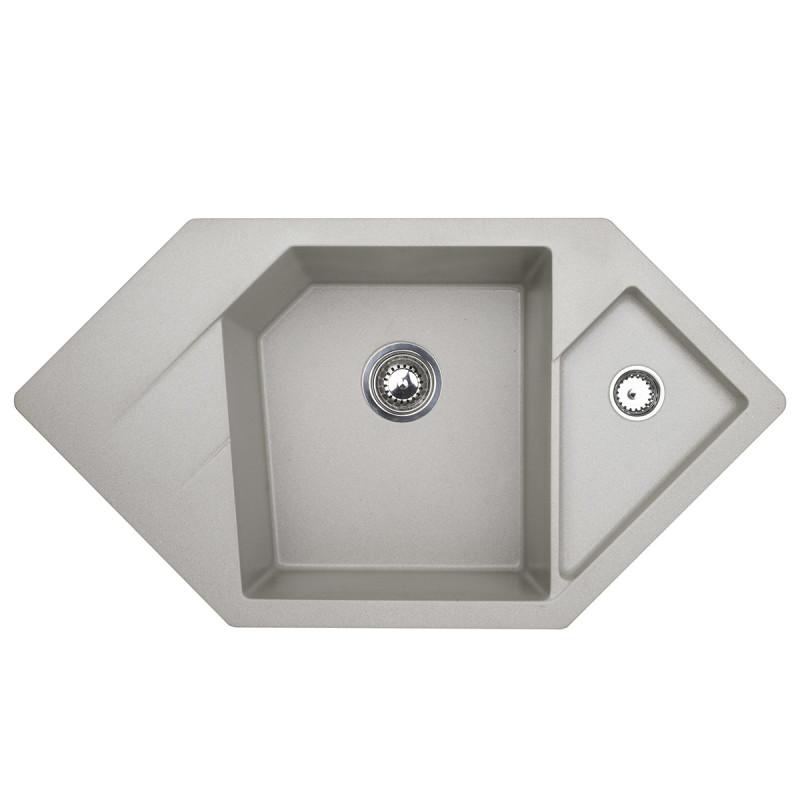 Metalac granitna usadna sudopera xDiamond siva 960x510 Ø90