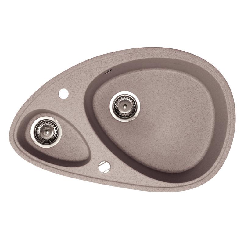 Metalac granitna usadna sudopera xElipse bež 780x500 ø90