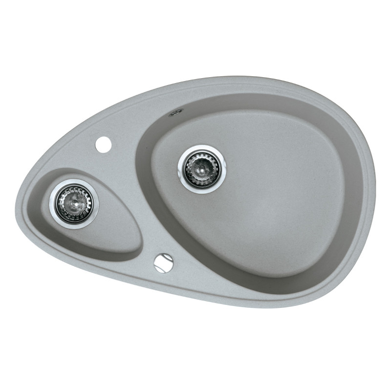 Metalac granitna usadna sudopera xElipse siva 780x500 ø90