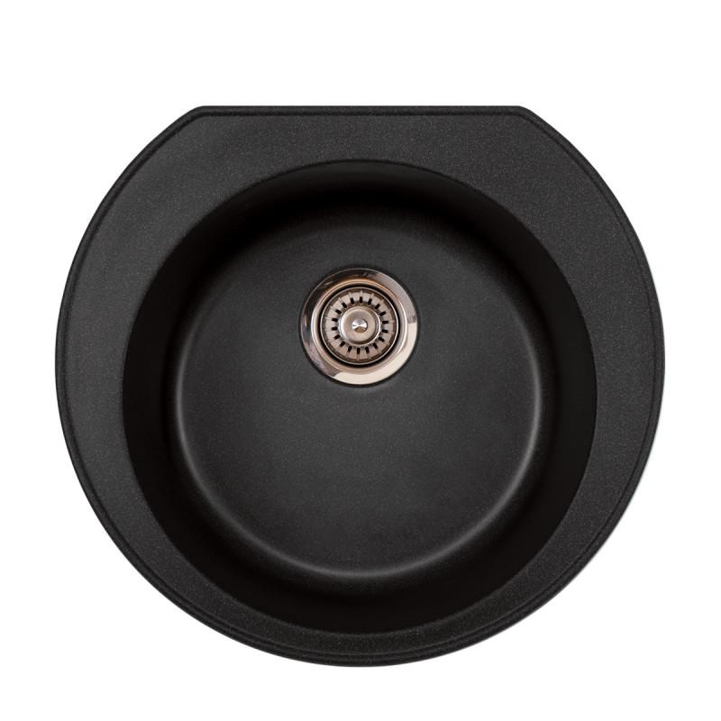 Metalac granitna usadna sudopera xOmega E520 crna Ø90