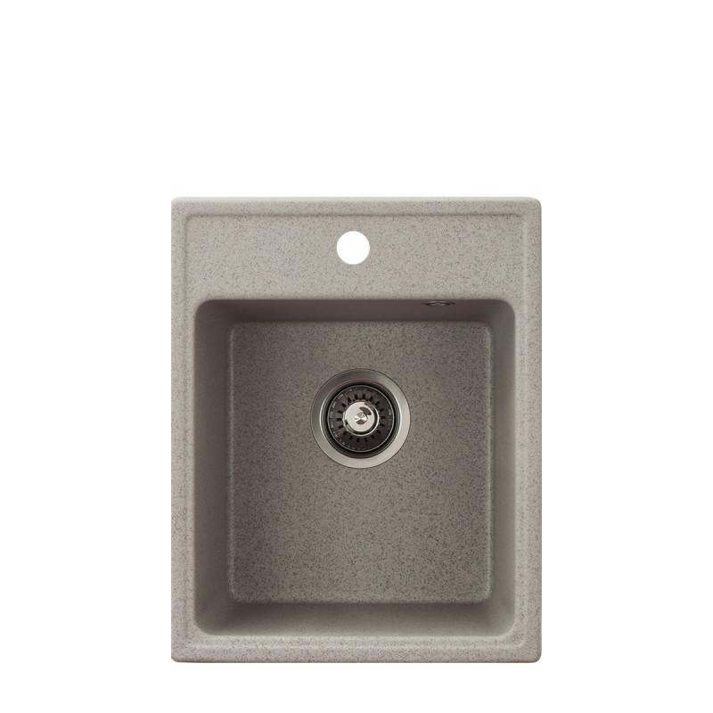 Metalac granitna usadna sudopera xQuadro 40 bež 400x500 Ø90