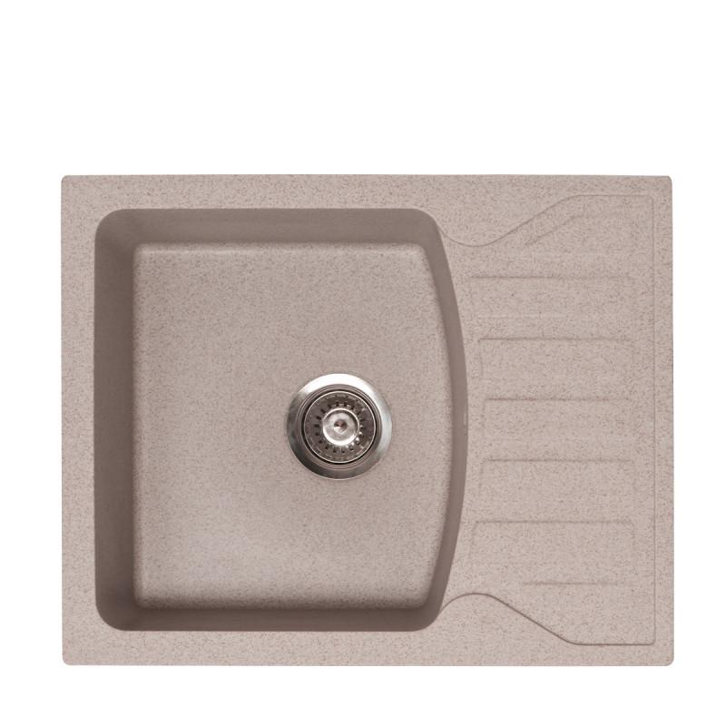 Metalac granitna usadna sudopera xQuadro M bež 620x500 Ø90