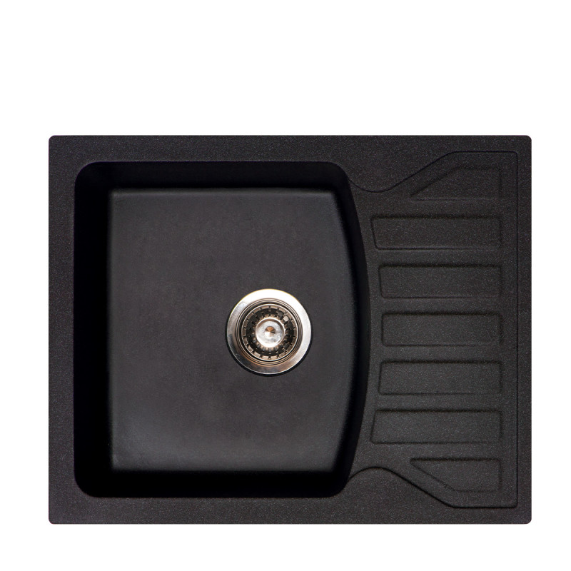 Metalac granitna usadna sudopera xQuadro M crna 620x500 Ø90