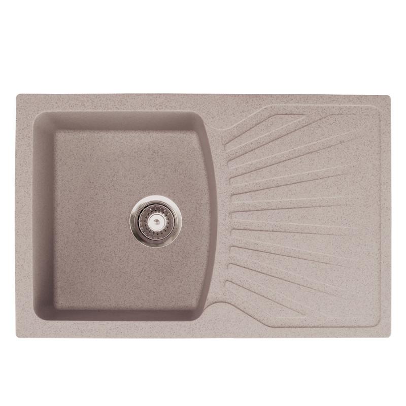 Metalac granitna usadna sudopera xQuadro Plus bež 770x500 Ø90