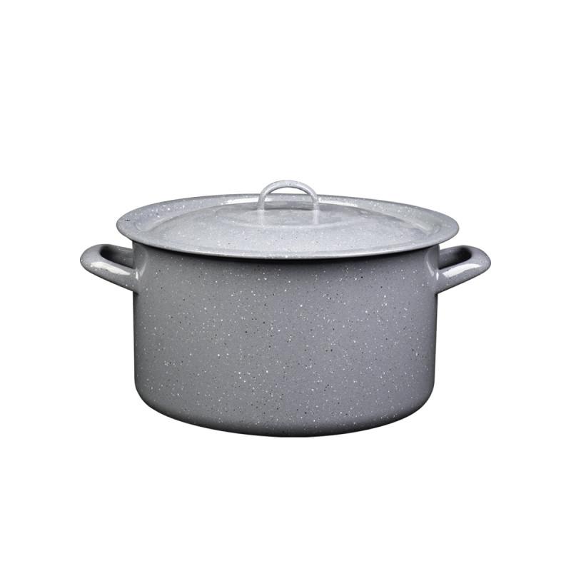 Metalac duboka šerpa PRSKANO SIVO 28cm/10lit