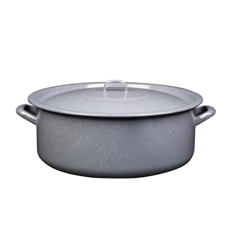 Metalac plitka šerpa PRSKANO SIVO 36cm/15lit