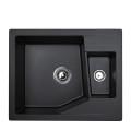 Metalac granitna sudopera xLinea M 1.5D crna 620x500 Ø90