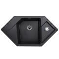Metalac granitna usadna sudopera xDiamond crna 960x510 Ø90