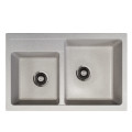 Metalac granitna usadna sudopera xQuadro Plus 2D bež 780x500 Ø90