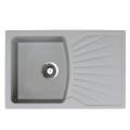 Metalac granitna usadna sudopera xQuadro Plus siva 770x500 Ø90